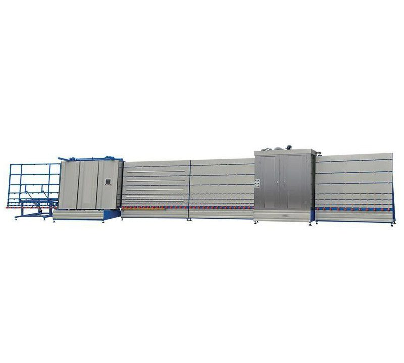 Efficient Automatic Vertical Double Glazing Machine Size 15700 * 2400 * 3200mm