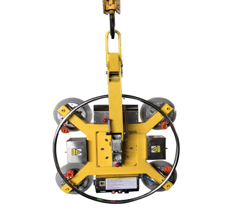 """Vacuum Glass Lifter and Glass Lifting Handling Equipment Vacuum Glass Lifter and Glass Lifting Handling Equipment Product Description Adjustable manual vacuum lifter is a glass handling equipment with flexible structure and simple operation. It is able to assemble in various ways in accordance with demand. By changing position of suckers can realize absorbing glass with different shapes and dimensions. All functions can be done by hand, dispensed with electricity, safe and reliable. It is one of the most comonly used equipments for curtain wall installation and glass deep processing enterprises.Vacuum Glass Lifter and Glass Lifting Handling Equipment Paramenters Parameters of Care glass vacuum lifter Model SD400-03 SD600-03 SD800-03 Rated load 400kg 600kg 800kg Sucker diameter 250mm 250mm 250mm Sucker qty 4 6 8 Vertical rotation 0°-90° 0°-90° 0°-90° Horizontal rotation 360° 360° 360° Charger AC 220V AC 220V AC 220V Power 12V battery 12V battery 12V battery Weight 80kg 100kg 120kg Note: various lifting capacity and power supply available. Products Features Vacuum Glass Lifter and Glass Lifting Handling EquipmentVacuum Glass Lifter and Glass Lifting Handling Equipment Product Application The lifter is widely used for lifting, handling and moving of glass, steel and wood sheet and marble.Vacuum Glass Lifter and Glass Lifting Handling Equipment Packaging & Shipping Vacuum Glass Lifter and Glass Lifting Handling Equipment Company Information We are quality conscious company, and it's just our origin to supply customers qualified machines. We are always trying to be the """"Solution Expert of Glass Processing Facilities"""". We not only supply complete glass processing facilities, but our professional engineer team also provide right facility configuration, accordingly customers' various production requirements and estimated investment. And we'll provide essential industrial design and technical guidance as well. Vacuum Glass Lifter and Glass Lifting Handling Equipment"""